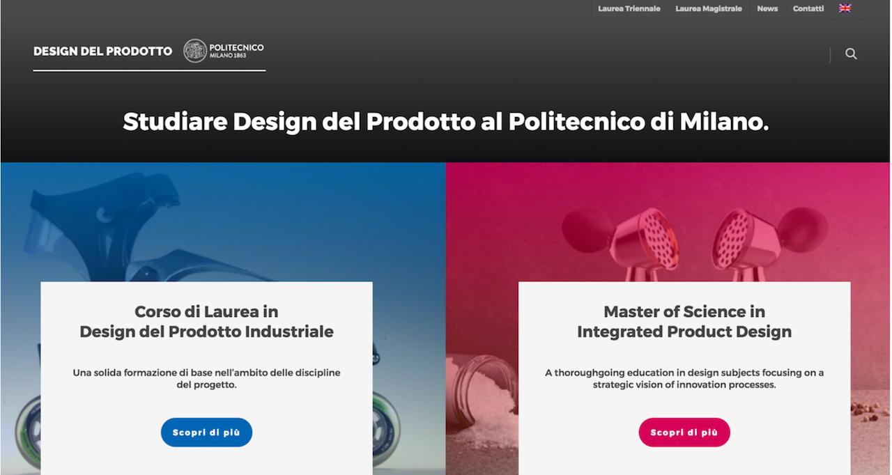 Online il nuovo sito della scuola del design stay tuned for Studiare design a milano